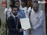 Video : Virat Kohli Receives Khel Ratna Award