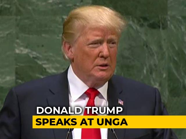 "Video : Will Give Aid Only To ""Friends"", Donald Trump Tells UN General Assembly"