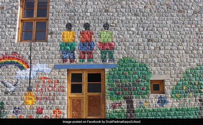 Leh School To Upgrade 'Rancho Wall' Of 3 Idiots Fame
