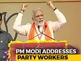 "Video : ""Blessed To Be A BJP Worker,"" Says PM Modi At Party's Bhopal Meet"