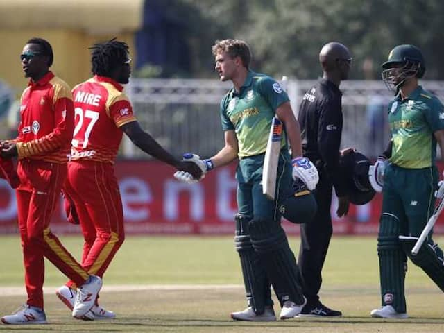 South Africa Stutter Before Beating Zimbabwe In 1st ODI