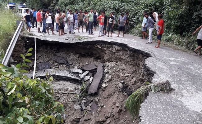 Landslides Affect Traffic Movement In Sikkim, West Bengal