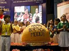 Giant 568-Kg <i>Ladoo</i> Unveiled To Mark PM Modi's 68th Birthday