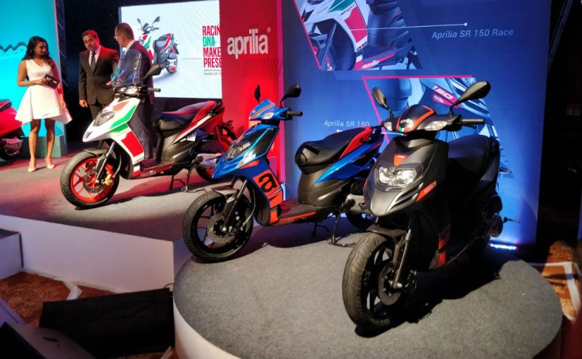 aprilia sr 150 abs to arrive in january 2019 prices start at rs