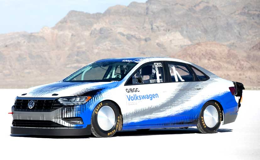 The VW Jetta recorded a track speed of 338.15 kmph at the Bonneville Salt Flats