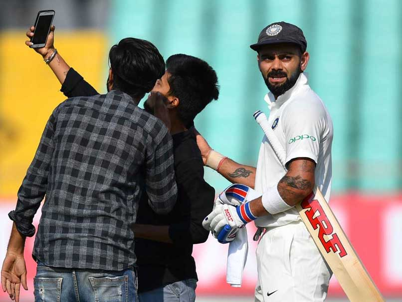 India vs West Indies: Pitch Invaders Take Selfie With Virat Kohli On Day 1