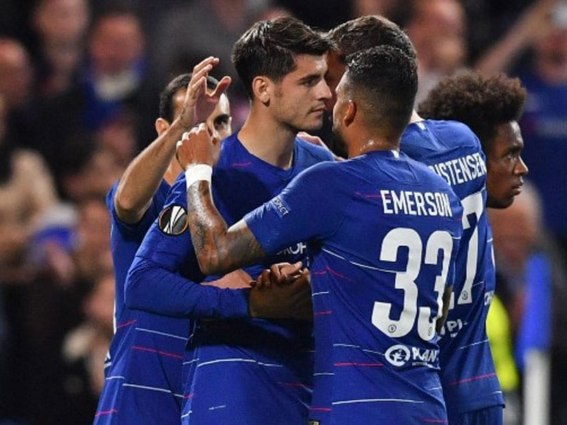 Europa League: Tearful Alvaro Morata Earns Win For Chelsea, Arsenal Roll Past Qarabag