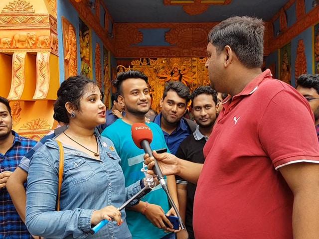 Video : কলকাতার অন্যতম পুজো এক ডালিয়াতে এবার সবুজের ছোঁয়া