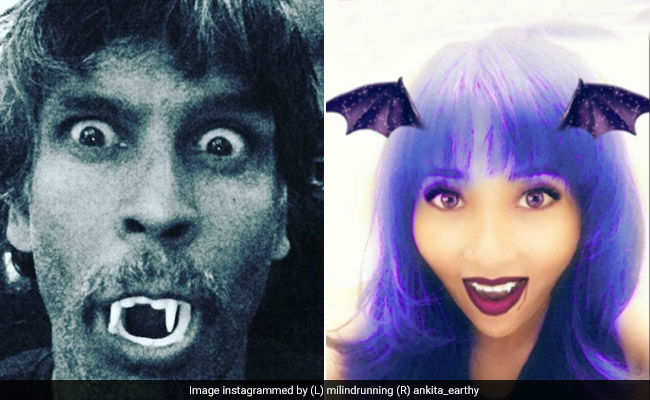 Halloween 2018: Milind Soman As A Vampire Or Ankita Konwar As A Witch, Whose Look Did You Like Better?