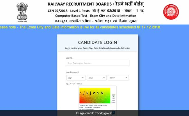 rrb, rrb group d, rrb admit card, rrb recruitment 2018, rrb group d exam city date shift details, rrb group d exam date
