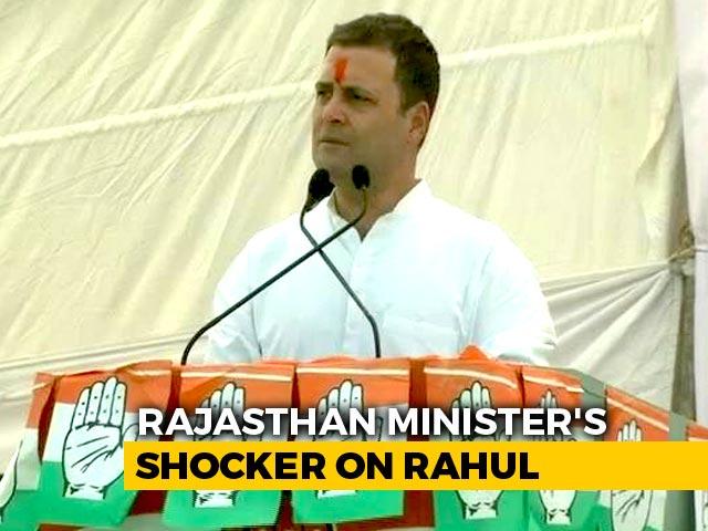 Video : Rajasthan Minister Targets Rahul Gandhi, Alleges Terror Slur