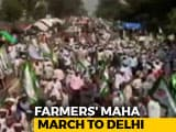 Video : Thousands Of Farmers To March To Delhi Today, High Security On Outskirts