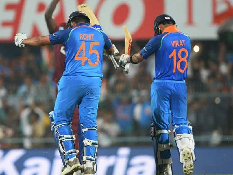 Virat Kohli, Rohit Sharma Pummel Windies With Centuries In First ODI