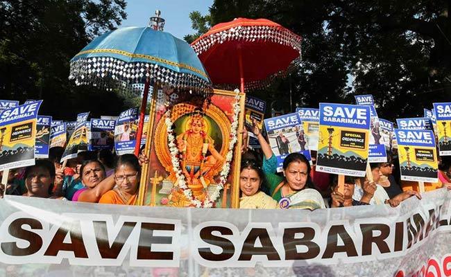 Massive Protest Against Sabarimala Verdict At Kerala ...