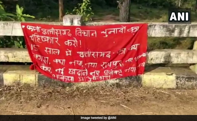 'Maoist' Banners Call For Election Boycott In Chhattisgarh's Tribal Areas