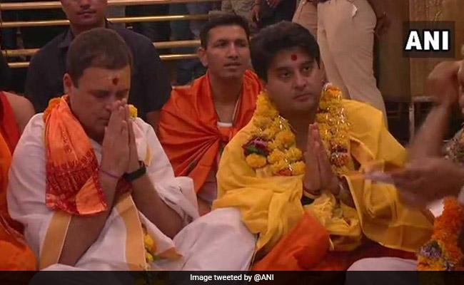 Congress Chief Rahul Gandhi Visits Ujjain's Mahakaleshwar Temple