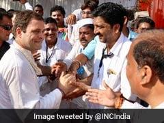 Rahul Gandhi Leads Foot March In Maharashtra On Gandhi Jayanti