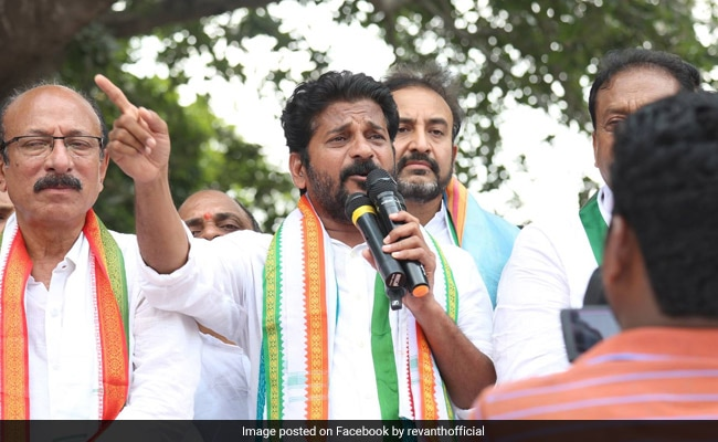 Telangana Congress Leader A Revanth Reddy Appears Before Tax