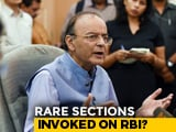 "Video : Government Says ""Extensive Consultations With RBI"" Amid Row Over Autonomy"