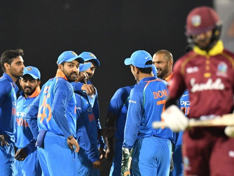 Team India Celebrate Their Series Win Over Windies