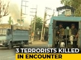 Video : Policeman Dies, 3 Terrorists Killed In Encounter In Srinagar