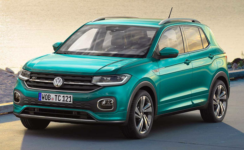 The Volkswagen T-Cross is finished with a contrast coloured roof