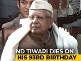 Video : ND Tiwari, Former Uttarakhand Chief Minister, Dies On His 93rd Birthday