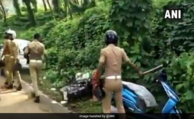 Watch: Kerala Cops Vandalise Parked Vehicles Near Sabarimala