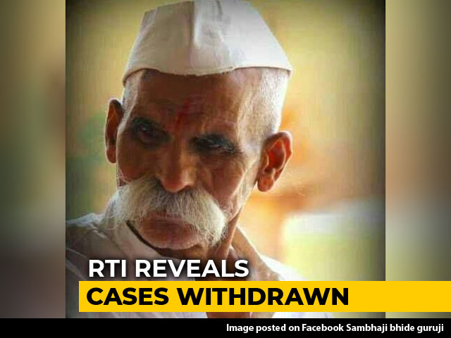 Video : Rioting Cases Against Maharashtra Right-Wing Leader Sambhaji Bhide Dropped, Reveals RTI