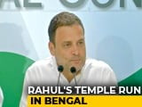 Video : Now, Rahul Gandhi's <i>Pujo</i> Outreach In Bengal Ahead Of 2019 Polls