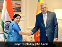 Sushma Swaraj Meets Sri Lankan Prime Minister, Reviews Progress Of Projects