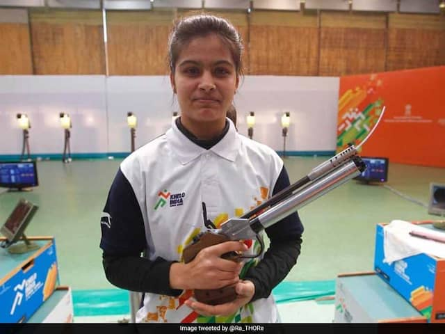 Manu Bhaker Claims Indias First Ever Gold In Shooting At Youth Olympics