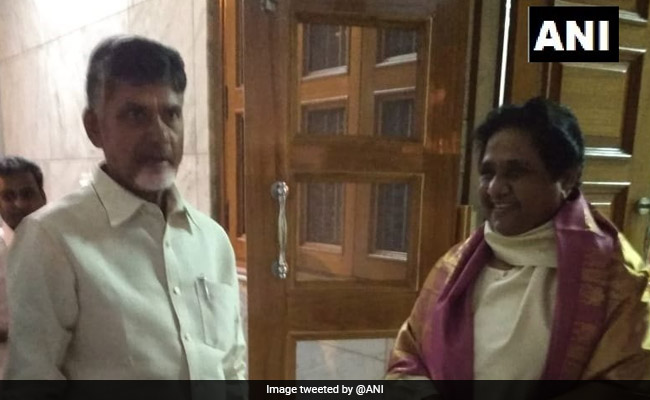 'As A Facilitator': Chandrababu Naidu Meets Arvind Kejriwal, Mayawati