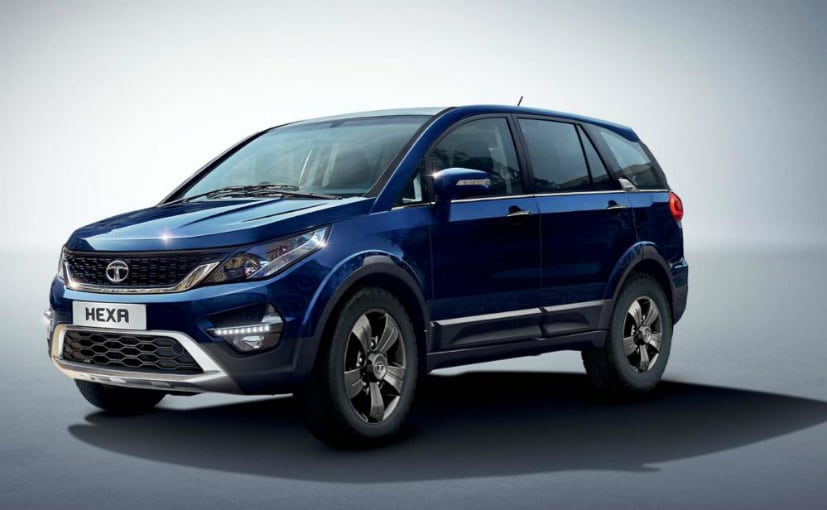 The Tata Hexa XM+ sits right below the top-spec XT variant
