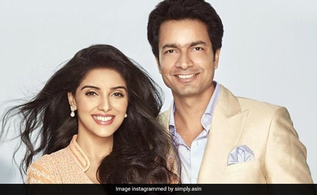 Asin And Rahul Sharma Share First Pictures Name Of Their Daughter On Her Birthday