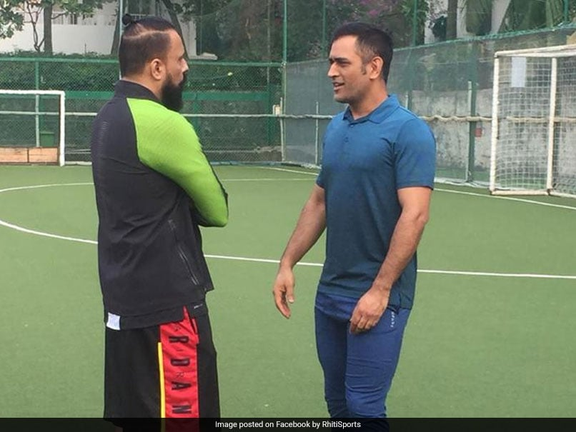 Look With Whom Dhoni Is Playing Football