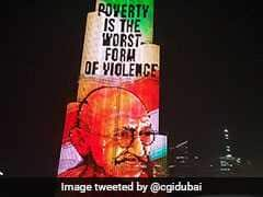 Messages From Mahatma Gandhi Light Up Dubai's Burj Khalifa. Watch