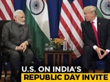 "Video : ""Scheduling Constraints,"" Says US On Trump Rejecting Republic Day Invite"