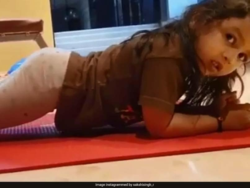 Watch: MS Dhoni's Daughter Ziva Does A Plank