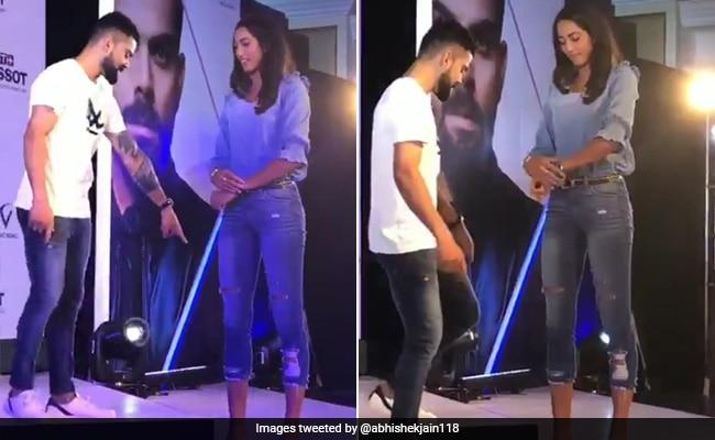 खुद से लंबी खिलाड़ी आईं तो बड़ा दिखने के लिए विराट कोहली ने किया ऐसा, वायरल हुआ Video