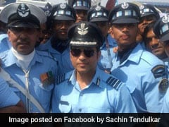 Watch: Sachin Tendulkar Attends The Air Force Day Parade