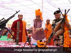 Rajnath Singh Celebrates Dussehra With BSF Jawans