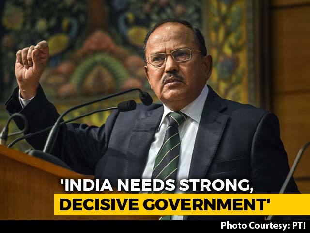 """Video : """"Weak Coalition"""" Bad For The Country, Says Ajit Doval"""