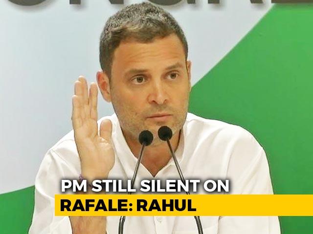 "Video : ""#GreatRafaleCoverUp"": Rahul Gandhi On Nirmala Sitharaman's France Visit"
