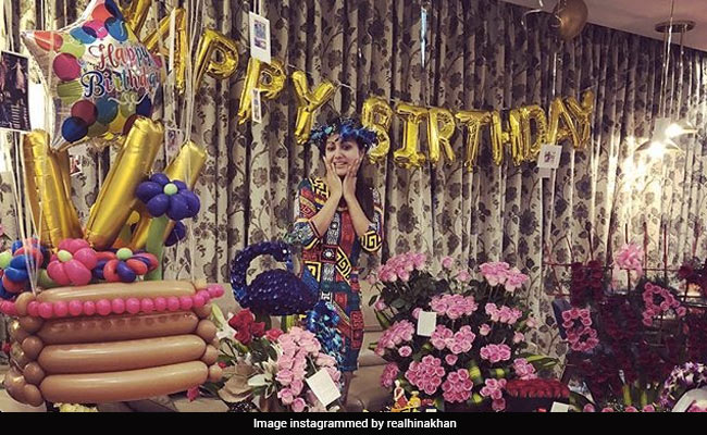 How Hina Khan's Birthday Was Made Special By Shilpa Shinde, Vikas Gupta And Others
