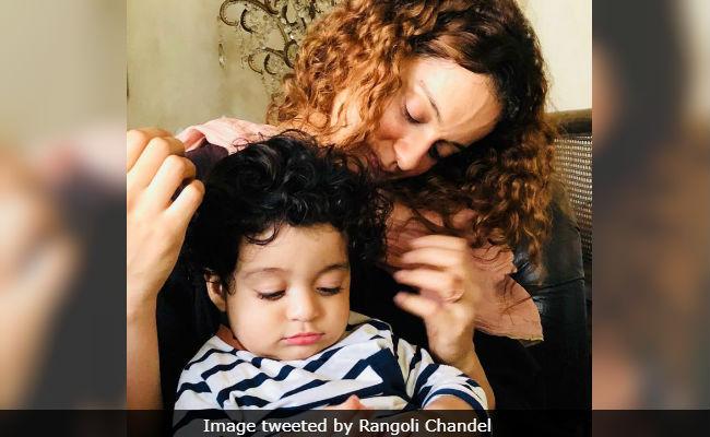 Kangana Ranaut With 'Choti Kangana,' Per Rangoli Chandel's Mother-In-Law