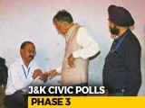 Video : In Third Phase, Jammu Gives Thumbs Up To Civic Polls, Kashmir Stays Away