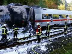 High-Speed Train Catches Fire In Germany, 510 Evacuated