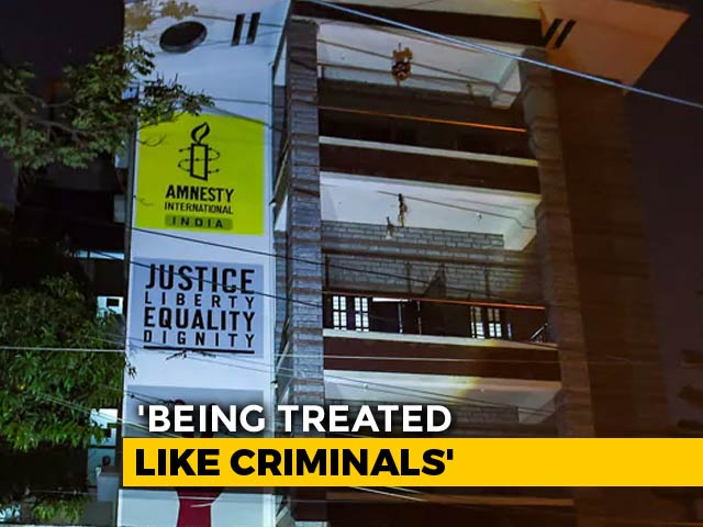 """Video : """"Rights Groups Being Treated Like Criminal Enterprises"""": Amnesty On Raids"""