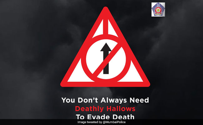 a65ef3356 Mumbai Police's Road Safety Warning Comes With Clever Harry Potter Twist